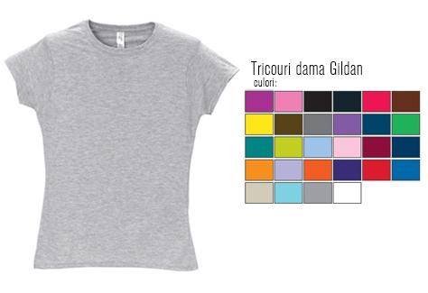 Tricouri dama Gildan
