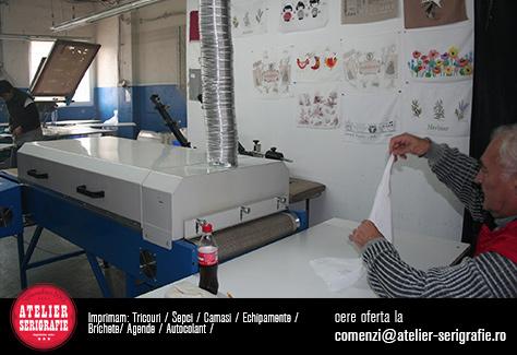 cuptor serigrafic